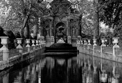Medici Fountain, Paris • 16 1/2 x 16 1/2 Photograph on archival paper $100.00 unframed, $750.00 matted in silver metal leaf frame