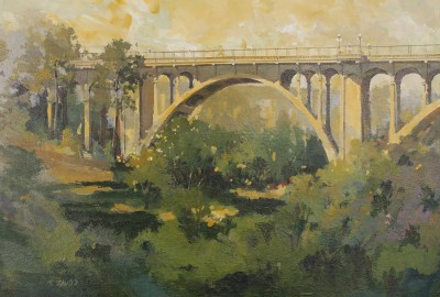 Shadow of the Freeway • 18 x 24 Oil on panel $1,400.00 unframed • $1,585.00 in gold plein air style frame