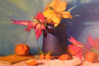 Tropical Still Life  • 12 x 16 • Oil on linen on panel • Sold